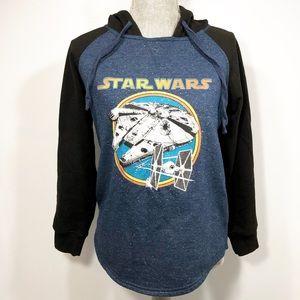 Star Wars Lucasfilm Ltd. Blue Black Hoodie Small